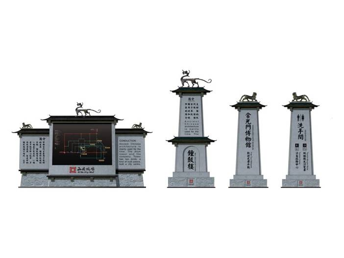「prism实践」西安城墙旅游景区导视系统设计