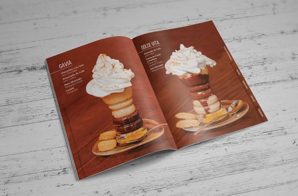 carta casa del café 咖啡厅菜单设计