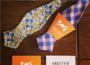 Knotty Co Bow Ties 手工品牌设计