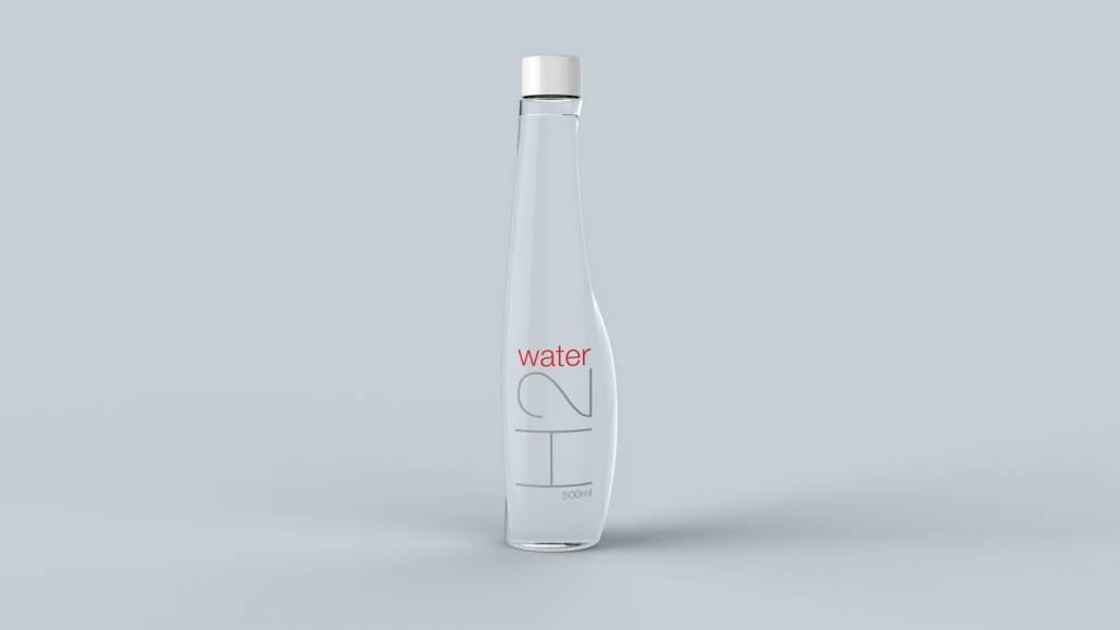 h2-water矿泉水 瓶子设计图片
