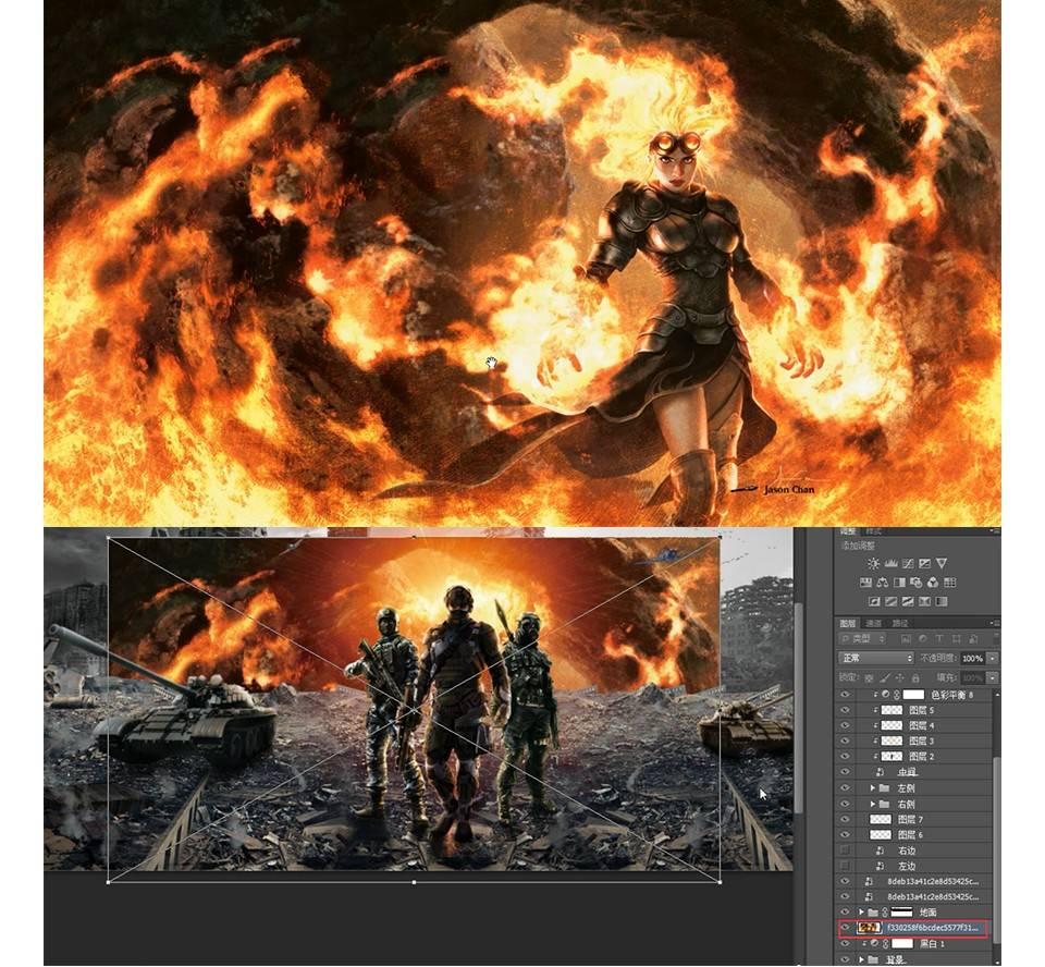 【ps高级合成教程】枪战游戏海报战争壁纸制作教程