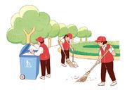 党员服务日活动场景系列插图