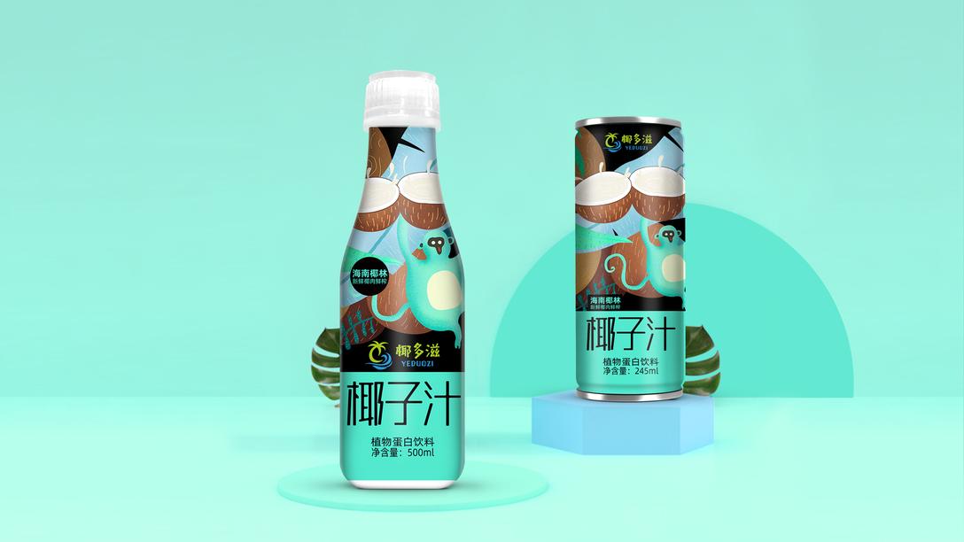 椰子汁包装设计x贾颖建筑设计郭屹图片