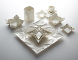 Ceramic Origami Plates and Dishware by Moij Design纸品设计