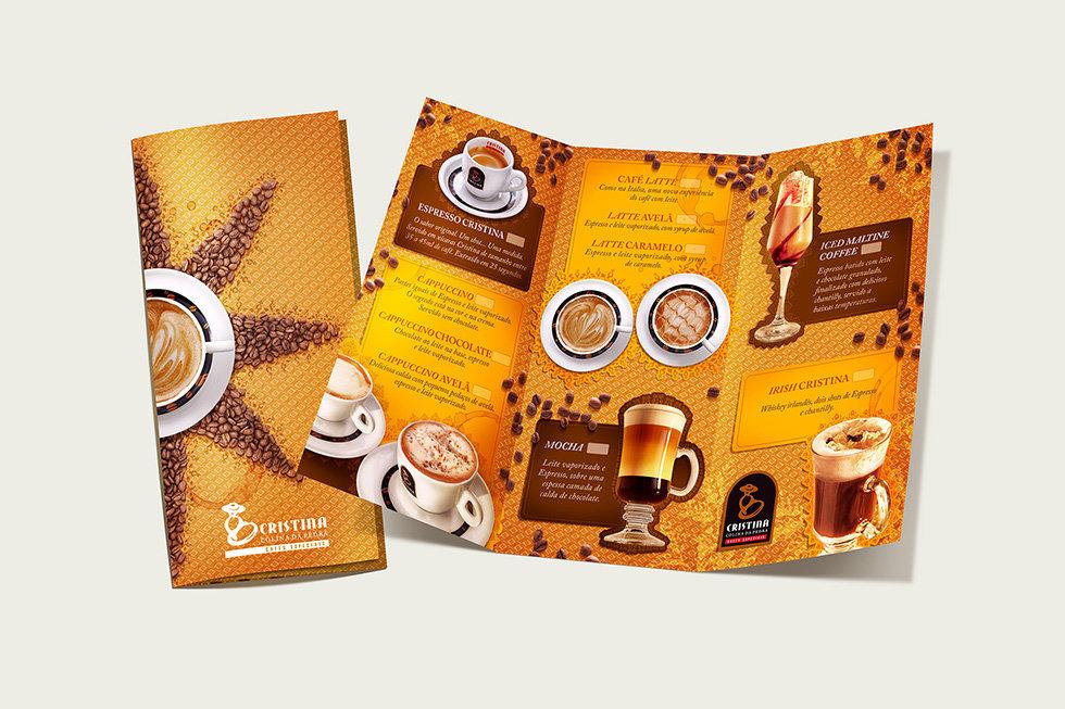 Cristina Coffee POS Design 巴西咖啡品牌视觉形象