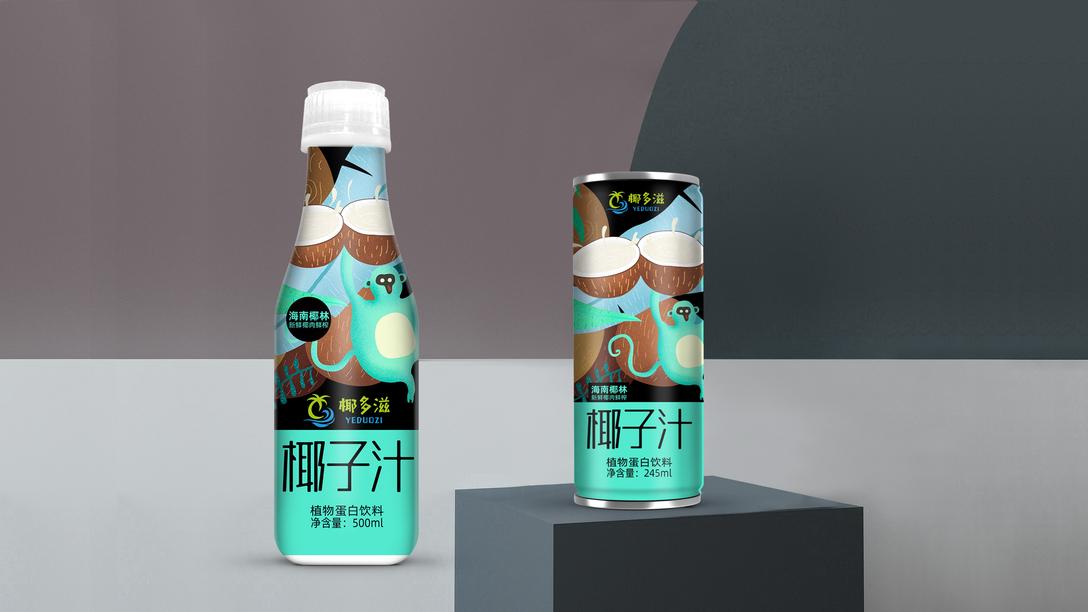 椰子汁包装设计x贾颖圆中绘制ae图片