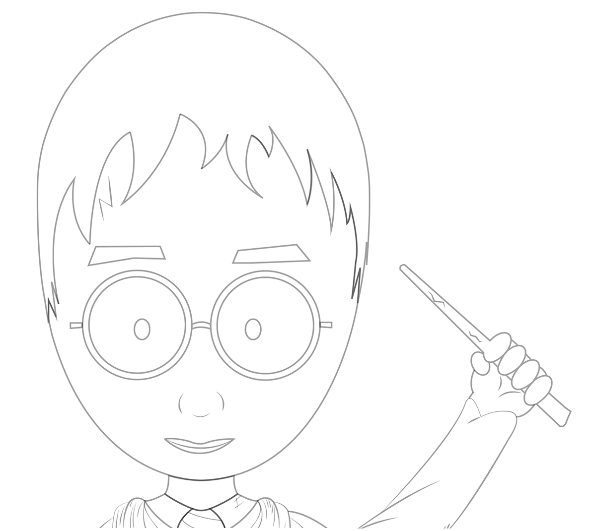 Fan Art Harry Potter插画