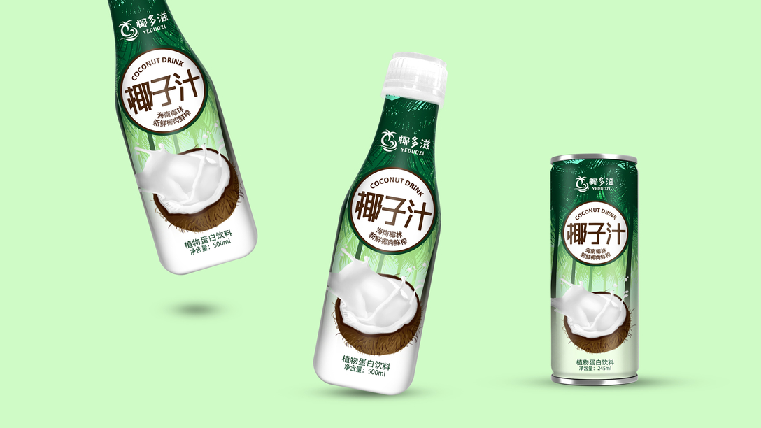 椰子汁包装设计x贾颖上海平面设计待遇图片