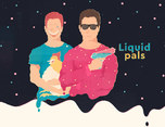 Liquid pals for Sticker.Place 插画设计