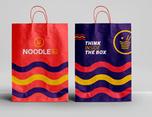 外卖餐厅VI设计 外卖打包盒设计主题餐厅设计 视觉餐饮