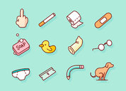 Daily Routine Icon Set 日常生活图标设计