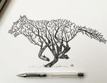 Hand Drawn Animal Illustrations by Alfred Basha插画设计