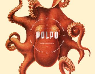 海鲜主题餐厅VI设计、菜单设计、章鱼插画、视觉餐饮