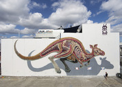 Anatomical Murals of Bisected Animals by Street Artist Nychos
