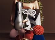 数字艺术家奥马尔阿奇尔把毕加索绘画作转化为现代雕塑