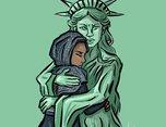 14艺术家对特朗普总统签署难民禁令表示愤怒抗议