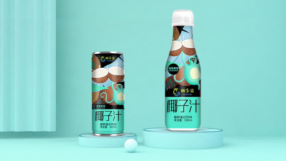 椰子汁包装设计x贾颖欧式艺术与建筑设计图片