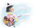 tiny girl 插画