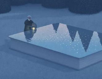 格调彩绘插画-如何在书中找到另一半