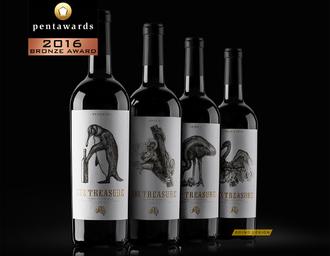 """16 pentawards获奖作品""""澳洲六宝""""系列酒标 古一设计"""