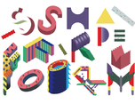 一款英文字体设计和应用