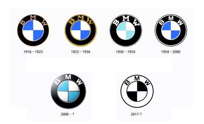 宝马汽车 BMW 扁平化,发布新的品牌视觉形象设计