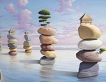 格调彩绘分享-石头版3D立体画