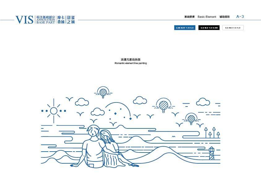 绿色一页蓝色温度平面|摩卡香城,有品牌的作品以情怀为主的室内设计图片