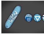 Nomad Skateboards Kaleidoscope Series 图形设计