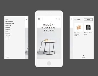 Belen Domecq Store 网页设计