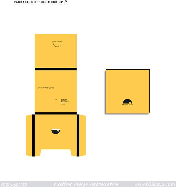 标志设计灵感: 以大象为创作元素来设计品牌的标志,用动物的特征可爱来表现品牌的形象。 标志设计创意: 标志设计成了一头大象的图形,用简单的线条和元素勾勒出形象可爱的大象,用极简的风格设计出了不一样简约大气的标志,非常的不错。相信当你看到第一眼的时候一定会被它吸引。 标志色彩运用: 黑、白、黄三色在组合搭配上表现出简约经典的风格,非常的雅致。 [[img
